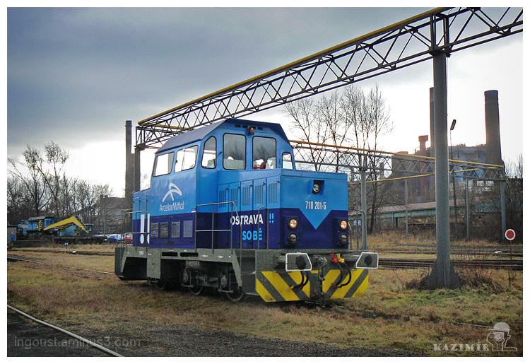 Accumulator shunting locomotive