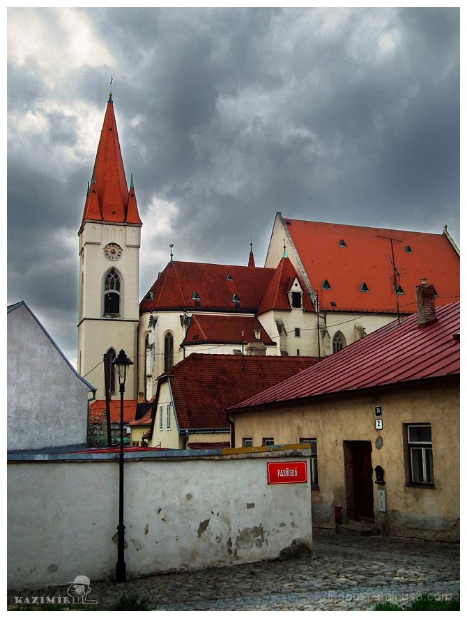 Cloudy Znojmo / Church of St. Nicholas