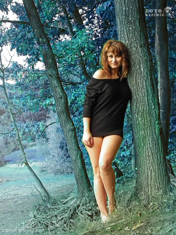 Veronika in the forest