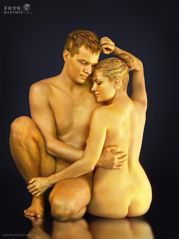 Golden bodypainting 06