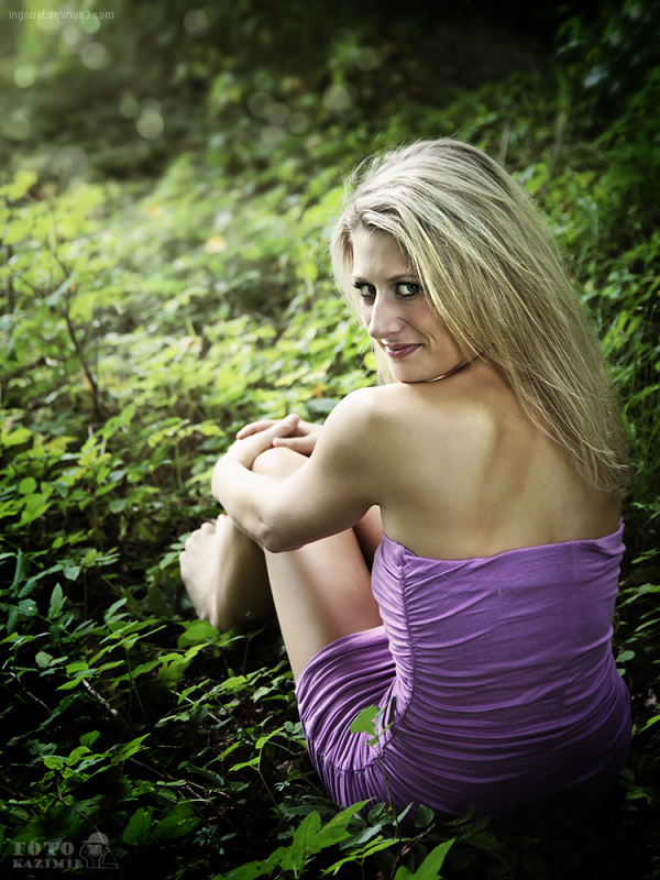 Zuzana in the forest