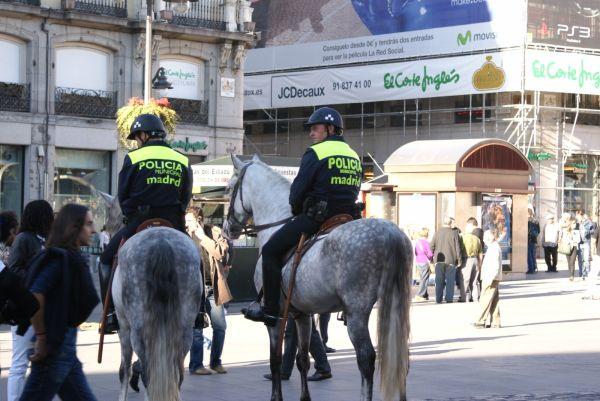 Police men in Madrid