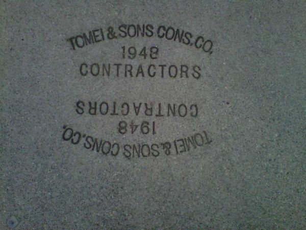 """""""Tomei & Sons Cons. Co., 1948, Contractors"""""""