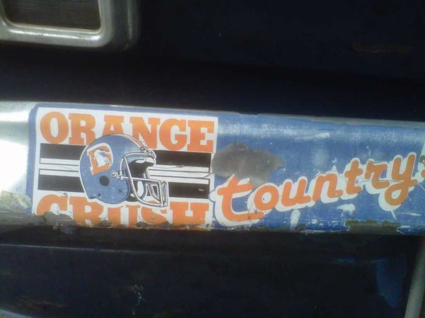 broncos bumper sticker