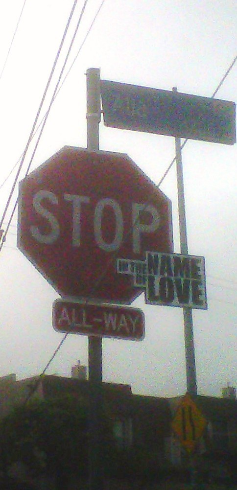 stop sign altered