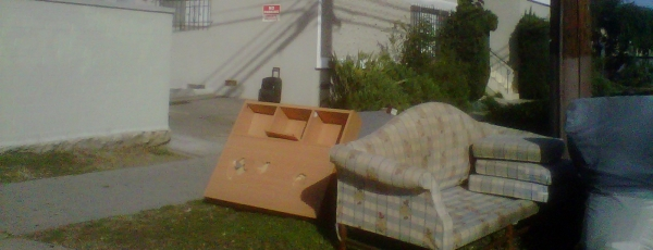 couch on the curb