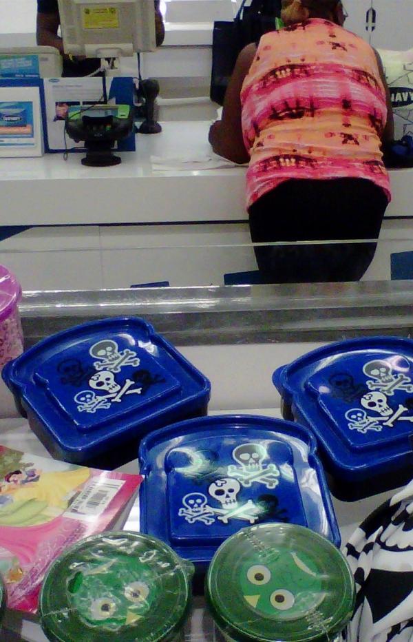skull lunch box