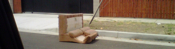 couch on curb