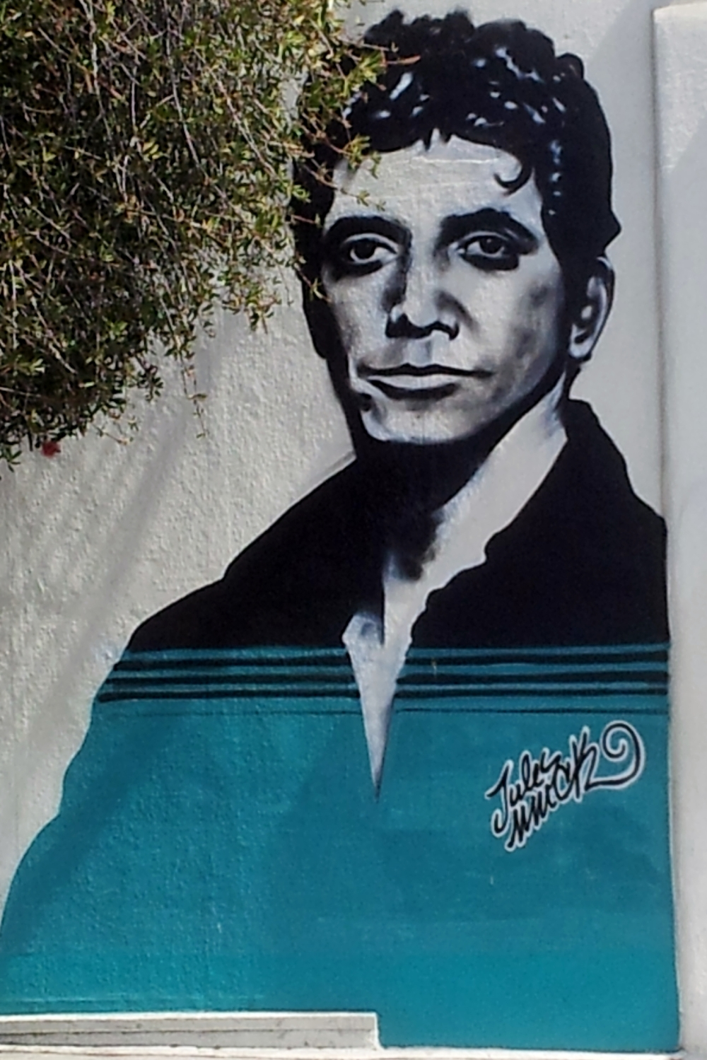 mural of Lou Reed