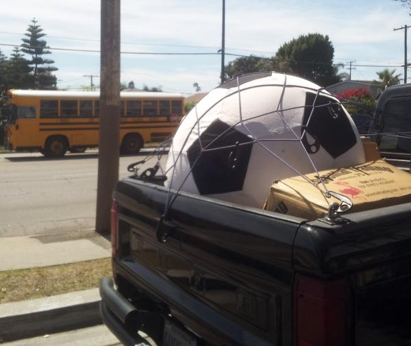 big soccer ball