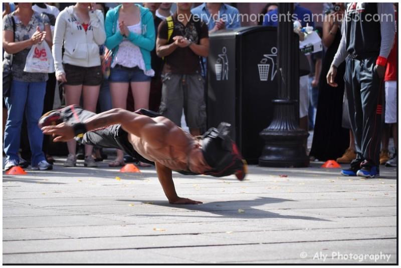 flying street dancer