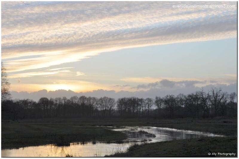 zonsondergang,24 december 2011,wandeling, Aahunze,