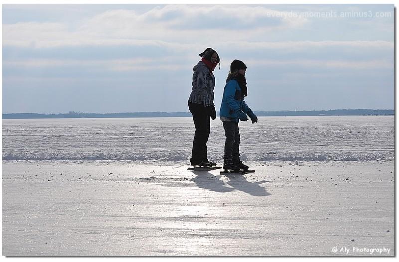 schaatsen,Zuidlaardermeer 11-02-2012