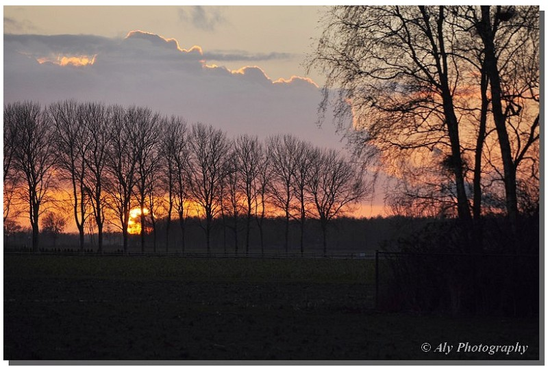 Beautiful sunset on the first day in 2013