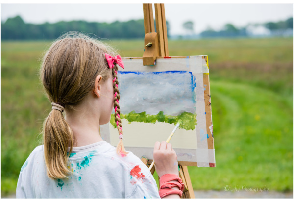 Painting in nature - Young artists