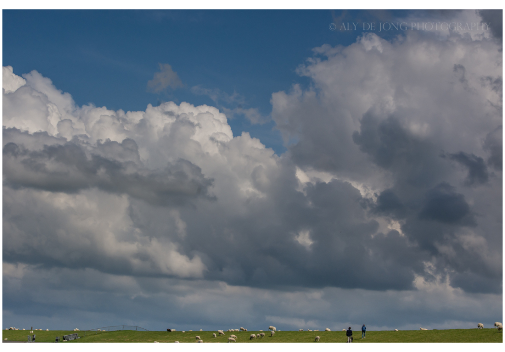 Clouds  over the dike