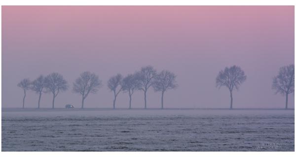 Sunday afternoon mist and sunset