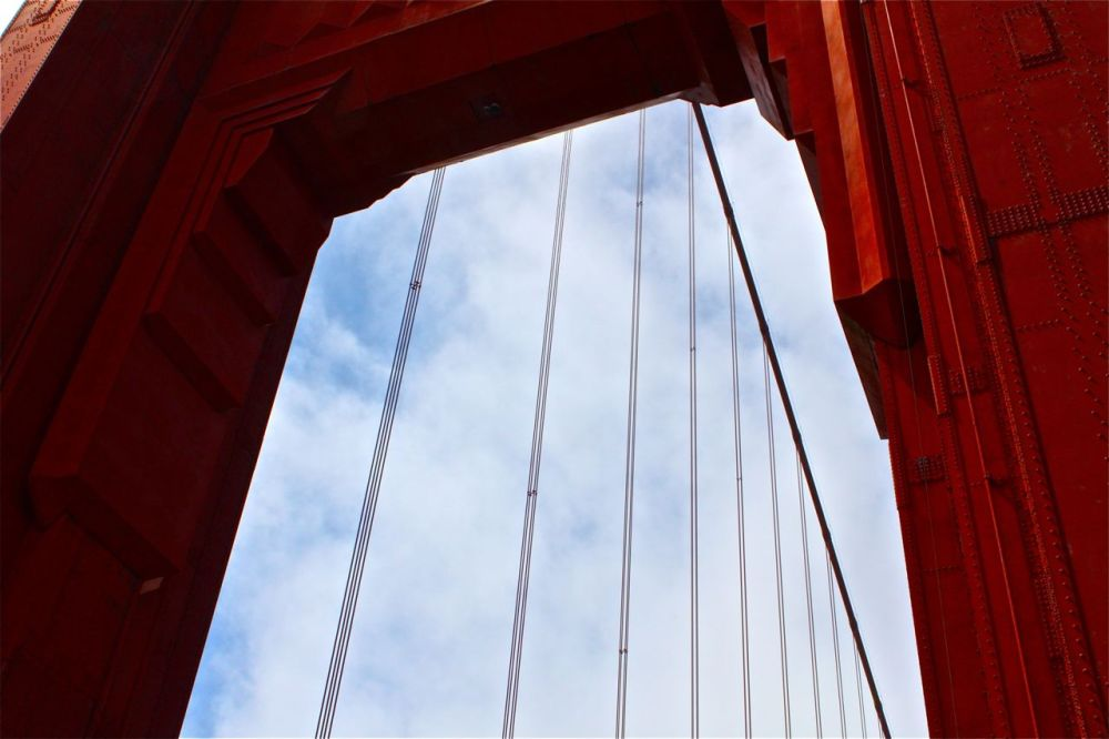 The Tower of the Golden Gate Bridge.