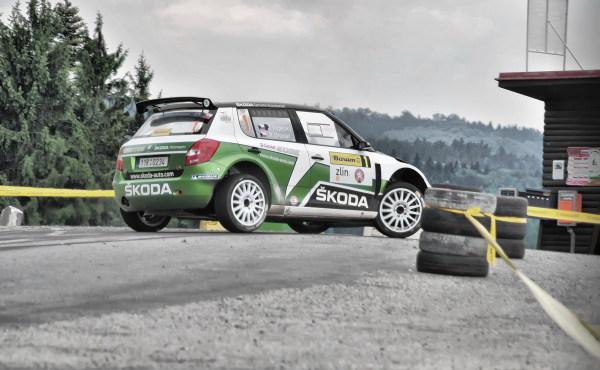 Kopecký in Barum Czech Rally Zlín