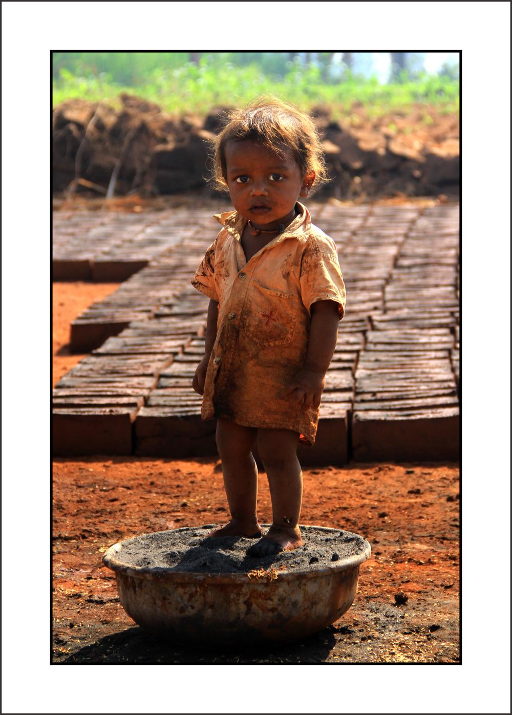 "..."" SMALL LIFE '' on bricks..."