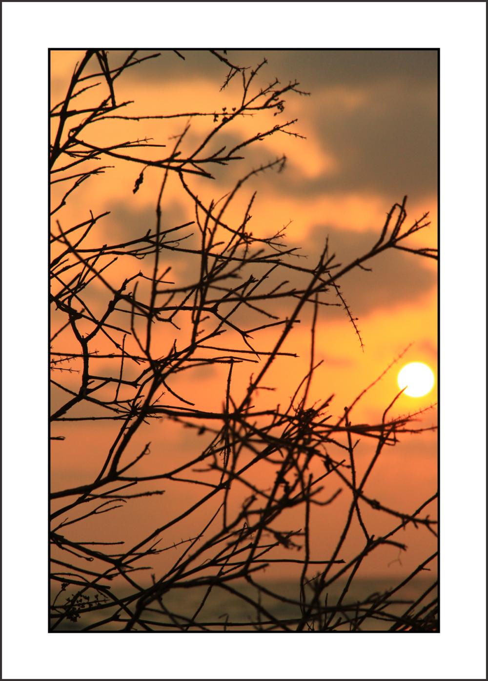 ... crumpled sunset ...