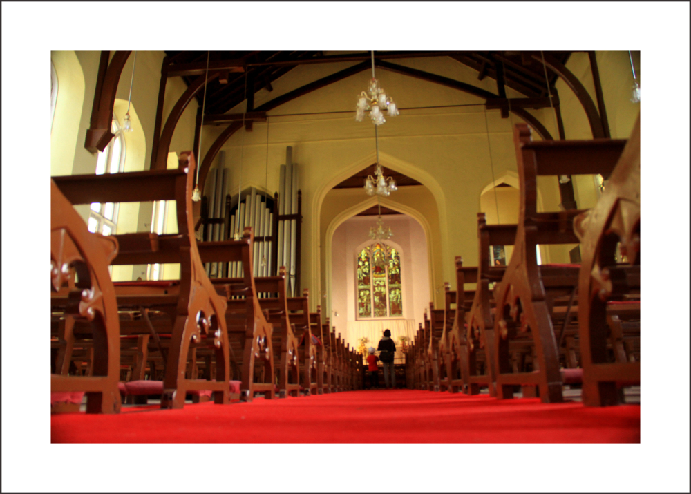 ... interiors of Christ Church , Shimla ( India )