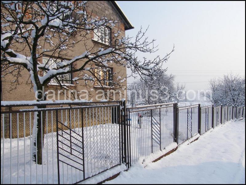 winter day in a village