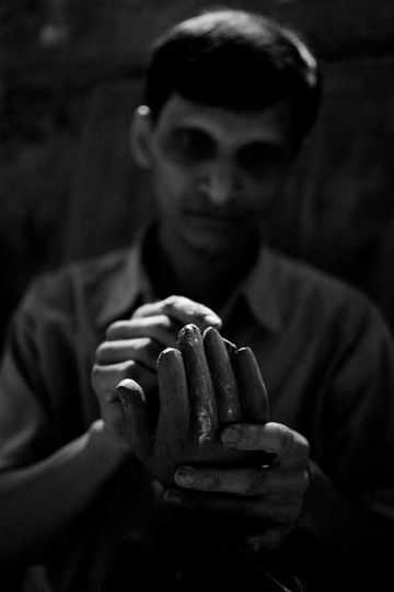 Hands of Sculptor