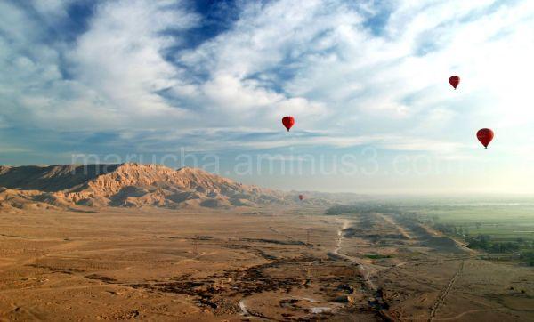 Balloons over Theban Hills.