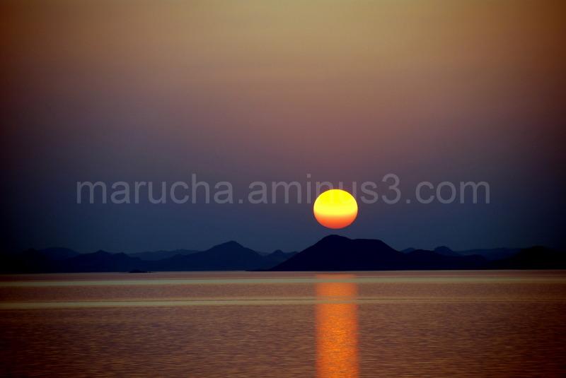 Sunset on Lake Naser