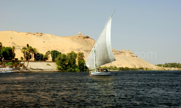 Feluka in Aswan