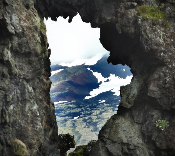 La fenêtre sur le glacier