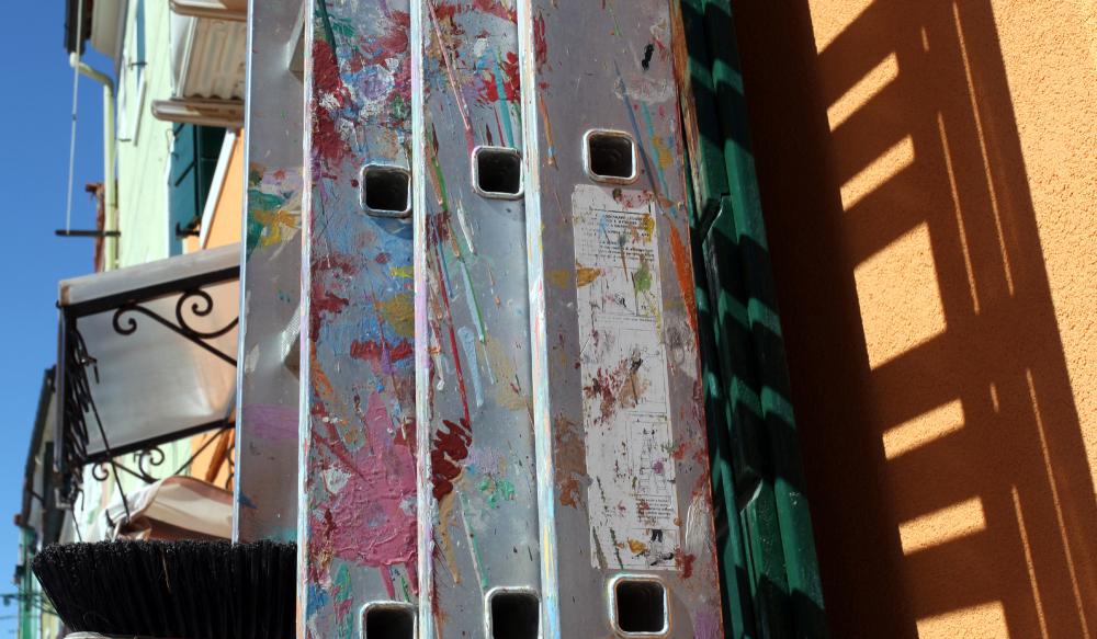 L'échelle du peintre (à Burano)
