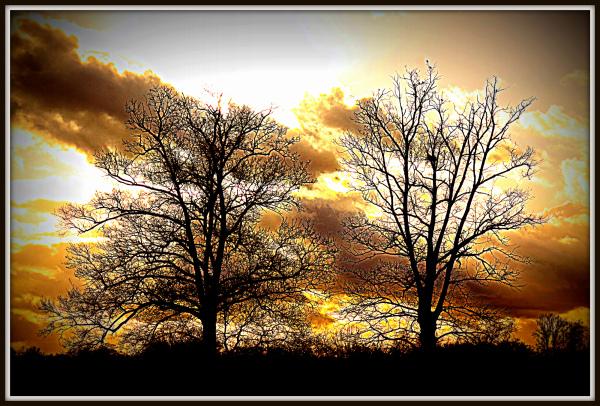 Coucher de soleil en Périgord
