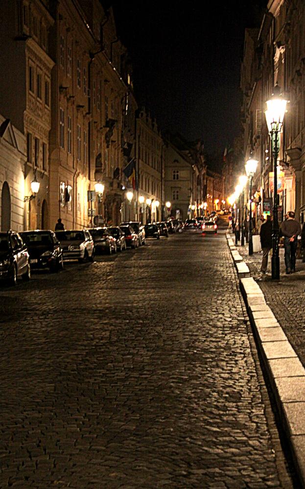 Rue Neruda à Prague
