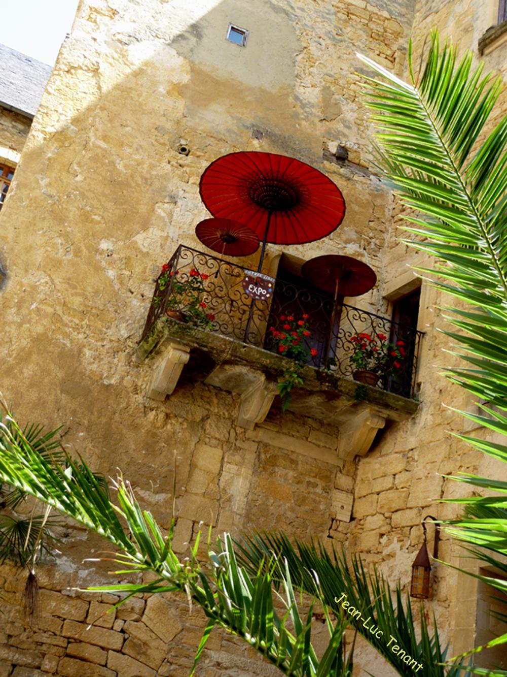 Rouge au balcon