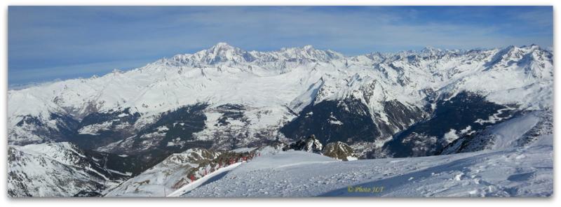 Panoramique vers le Mont-Blanc