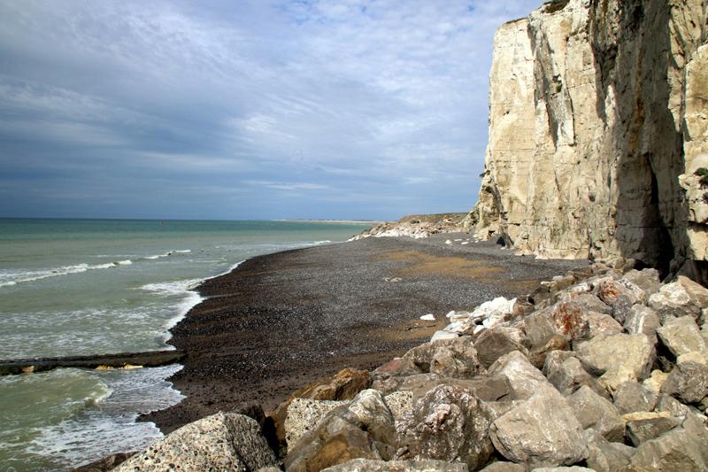 Les falaises d'Ault côté baie de Somme