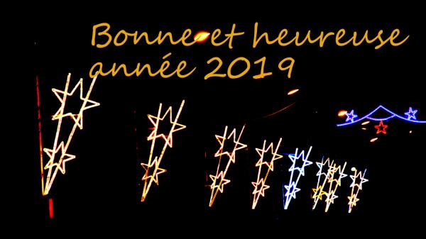Bonne et heureuse année.