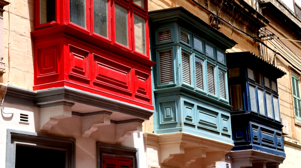 Les fenêtres de Valetta