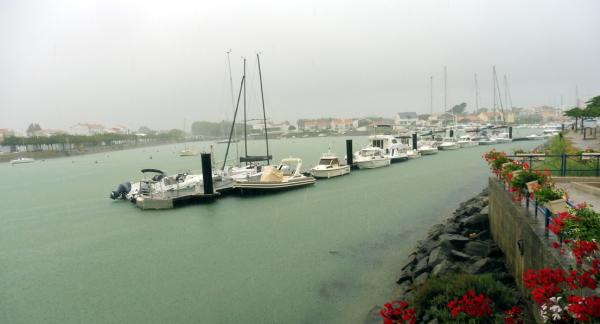 Pluie sur St Gilles-Croix-de-Vie