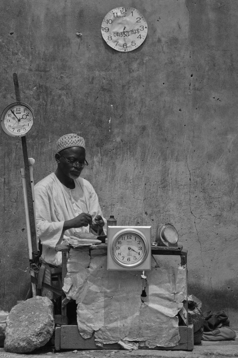 Nigeria watch repair on the street