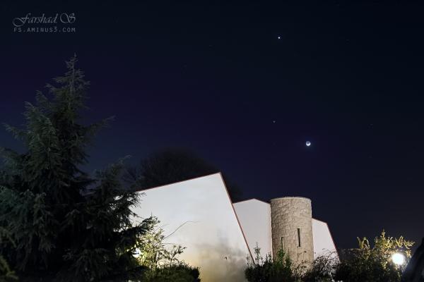 Moon, Jupiter and Venus:  25 March 2012