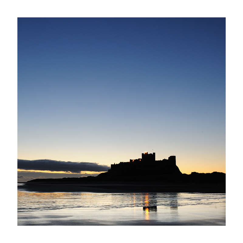 Bamborough Castle at sunrise
