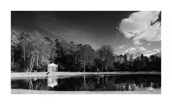 The gardens at Fountains Abbey