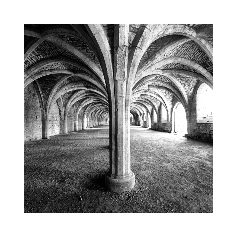 Inside Fountain Abbey in Yorkshire