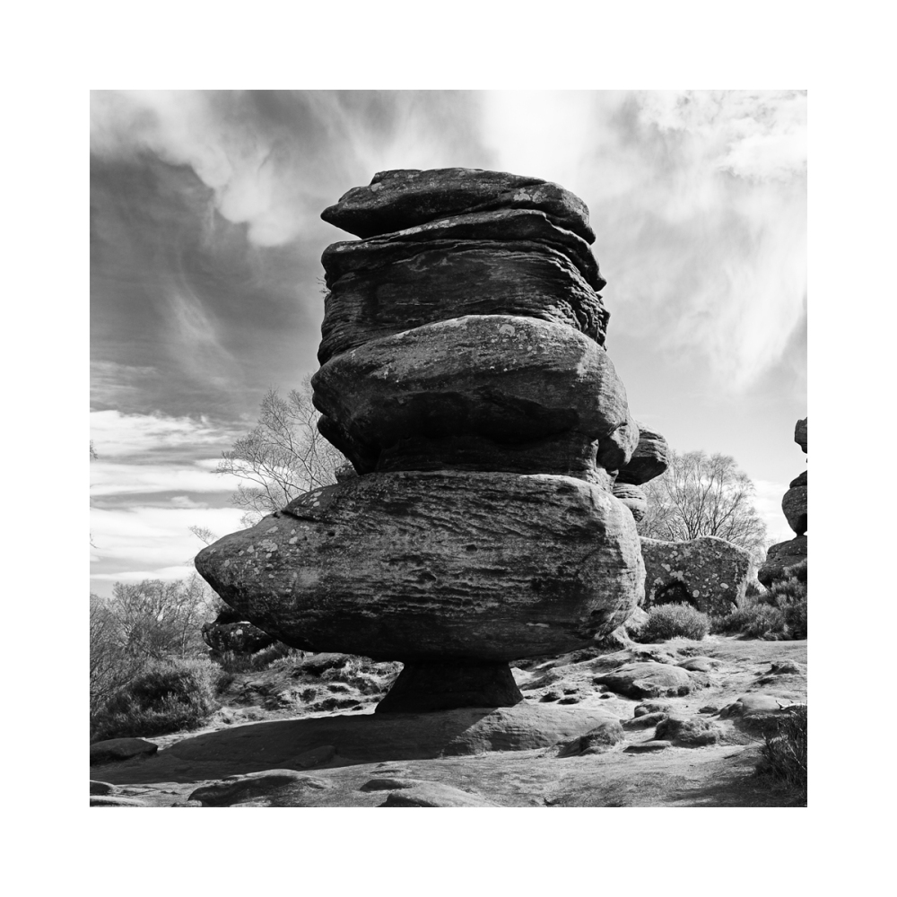One of many rocks at Brimham in Yorkshire England