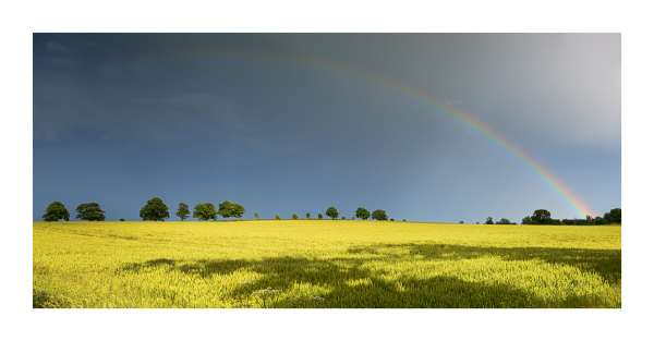 A rainbow over a landscape in Yorkshire