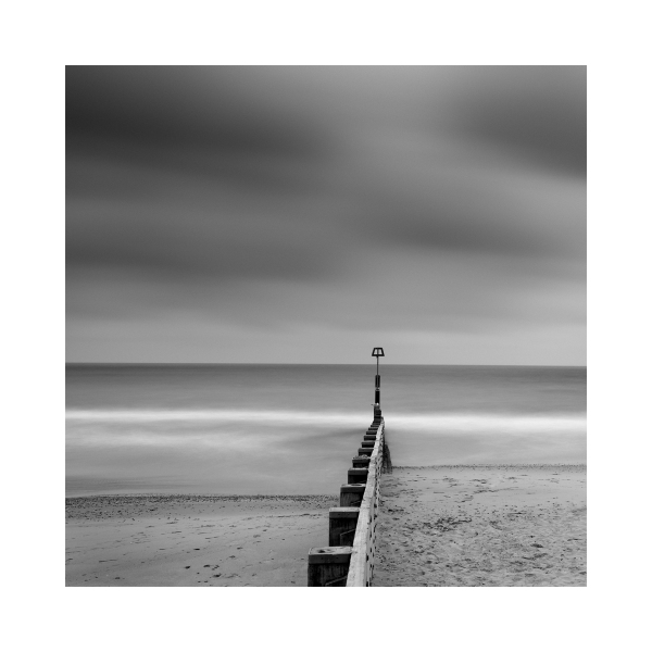 Black & White Fine Art image - Bournemouth Beach