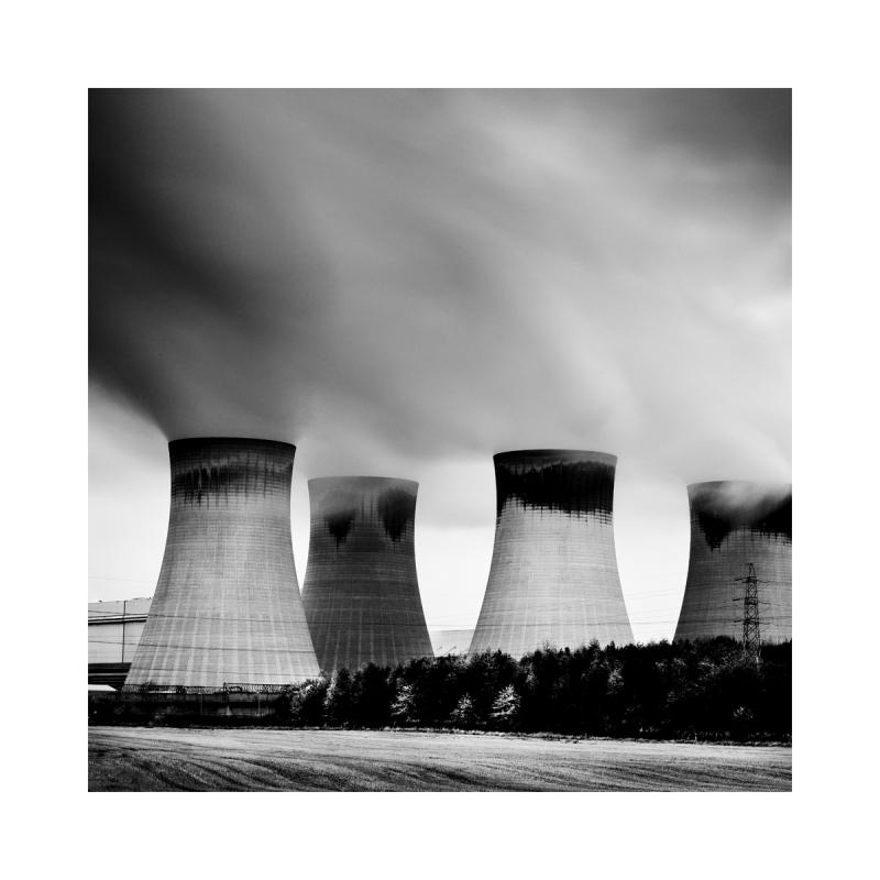Black & White image of Drax Power Station
